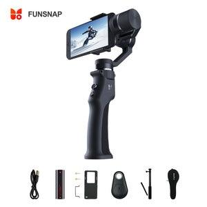 Image 1 - Стабилизатор Funsnap для смартфона, 3 осевой ручной шарнирный стабилизатор для экшн камеры Gopro Sjcam Xiaomi 4k