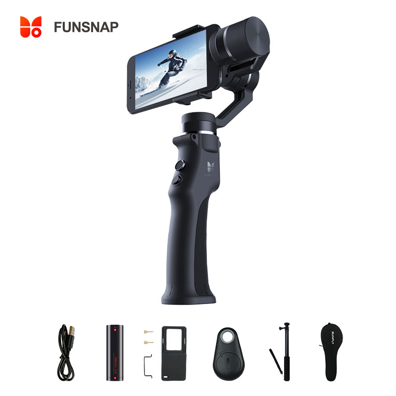 Funsnap captura 3 eixos cardan handheld estabilizador cardan smartphone para gopro sjcam xiaomi 4k ação câmera cardan estabilizador