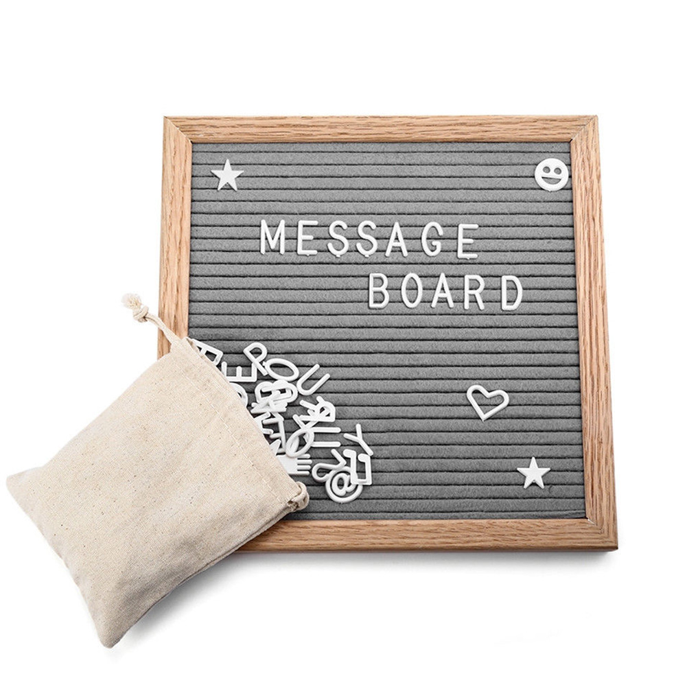 Signs Numbers Removable Office Felt Home Gift English Alphabet School Display Frame Fashion Letter Board Changeable Message Kids