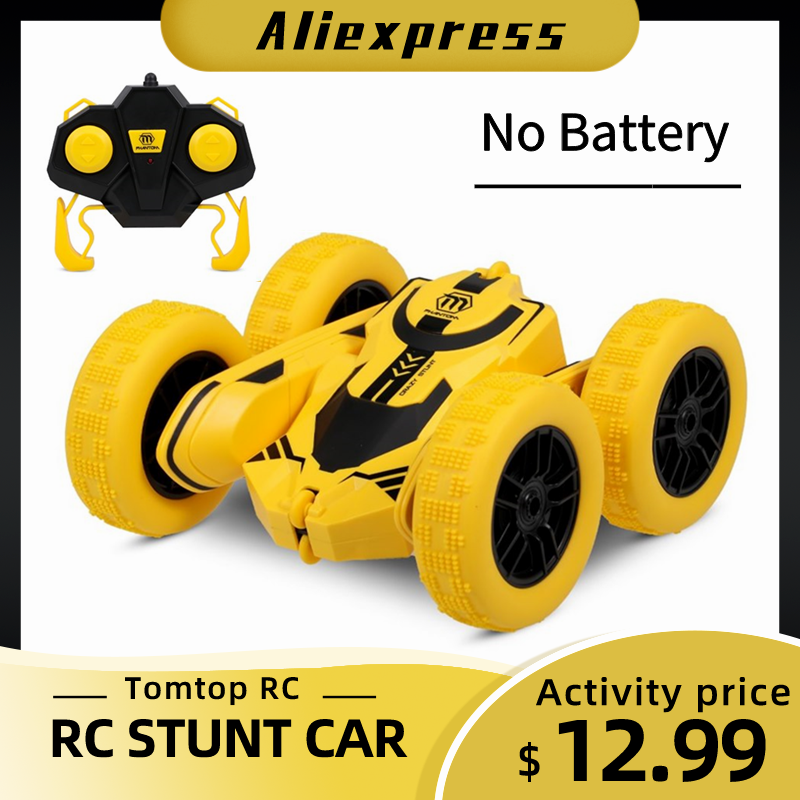 1/28  RC Stunt Car High Speed Tumbling Crawler Vehicle 360 Degree Flips Double Sided Rotating Tumbling RC Car