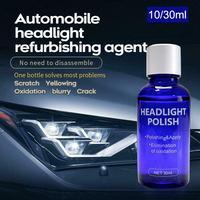 10/30ML High Density Headlight Polish Liquid Car Restoration Fluid Durable Car Repair set with towel sponge car washing kitTSLM1 6