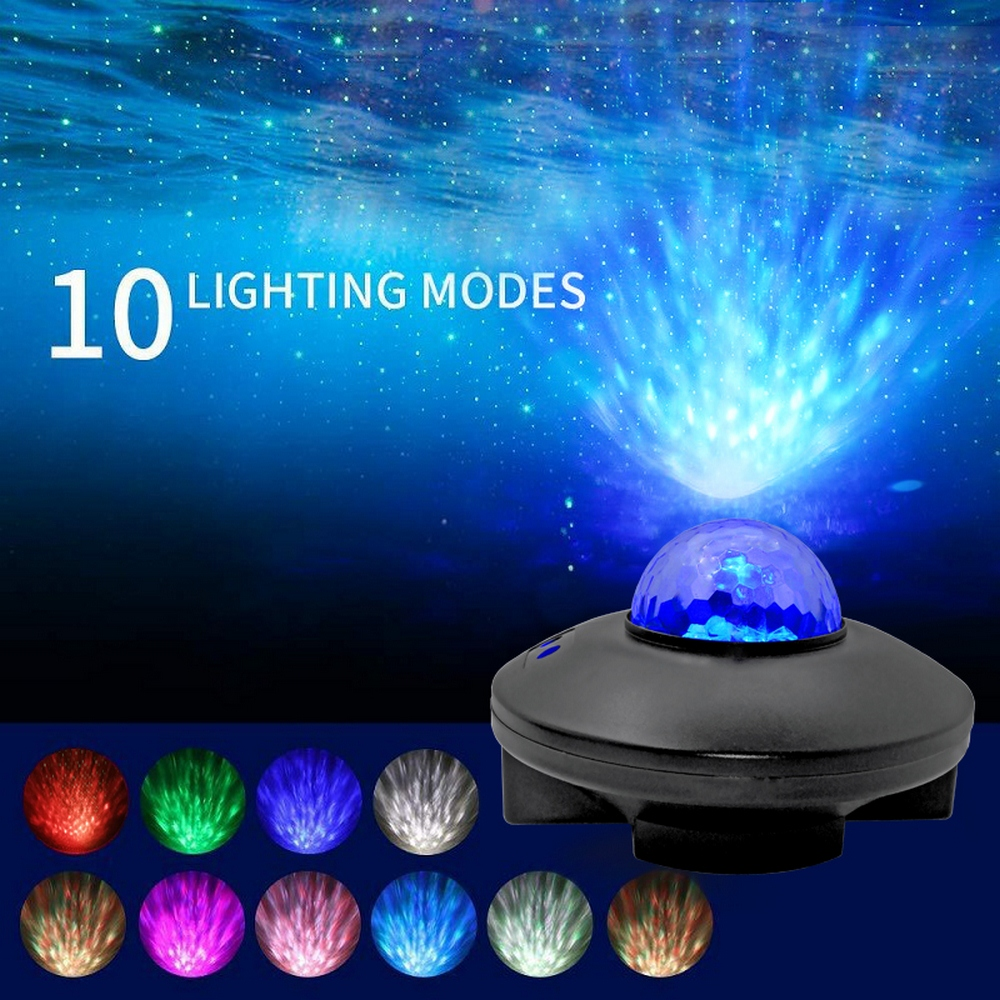 LED Projection Lamp Wireless Remote Control Voice Control Lamp LED Starry Sky Gypsophila Romantic Stress Relieve Watermark Lamp