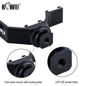 Image 3 - KIWI Triple Cold Shoe V Bracket Holder for Canon Nikon Sony Fujifilm Olympus Camera Microphone LED Light Flash Remote Receiver