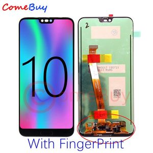 Image 2 - Comebuy Display For Huawei Honor 10 LCD Display+FingerPrint COL L09 COL L29 Touch Screen Honor 10 Display With Frame Replace