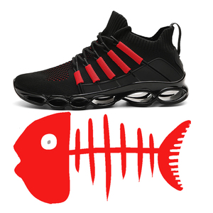 Image 5 - New Fishbone Blade Shoes Fashion Sneaker Shoes for Men Plus Size 46 Comfortable Sports Mens Red Shoes Jogging Casual Shoes 48