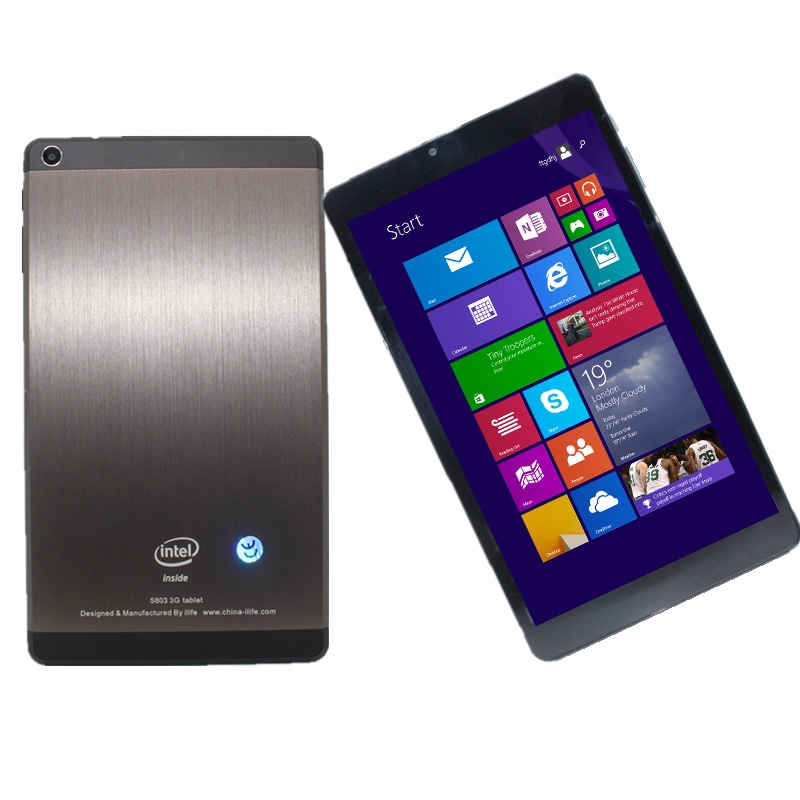 8 Inch S807 Windows 8.1 Matte Back  Tablet  With 1GB DDR3+16GB EMMC  Quad Core Dual cameras With SIM Card slot