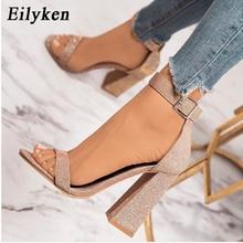 EilyKen Gladiator Sandals Summer Office High Heels