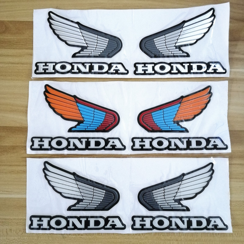 Motorcycle 3D Wing Stickers Motorbike Racing Protector Pad Sticker Decal For Honda CBR 600 F2 F3 F4 F4i RVF VFR CB400 CB1300 image