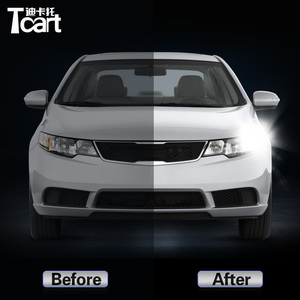 Image 2 - For Kia Forte Cerato Shuma Koup TD 2008 2009 2010 2011 2012 2PCS Led drl Daytime Running Light Turn Signal 2IN1 Car accessories