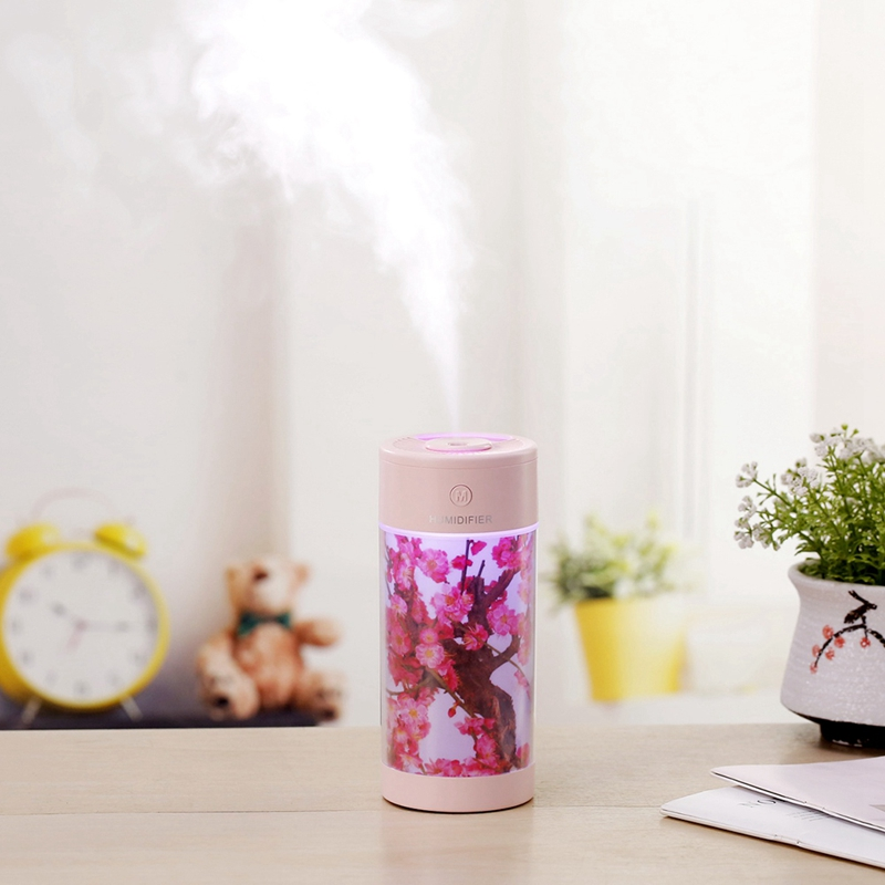 Travel Portable Chinese Style USB Air Humidifier Colorful LED Light Mini Aromatherapy Machine Air Freshener Water Cup Humidifier|Humidifiers| |  - title=