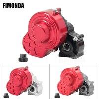 48P Alle Metall Übertragung Getriebe mit Motor Getriebe/Schutzhülle für 1/10 RC Rock Crawler SCX10 Lkw Upgrade teile