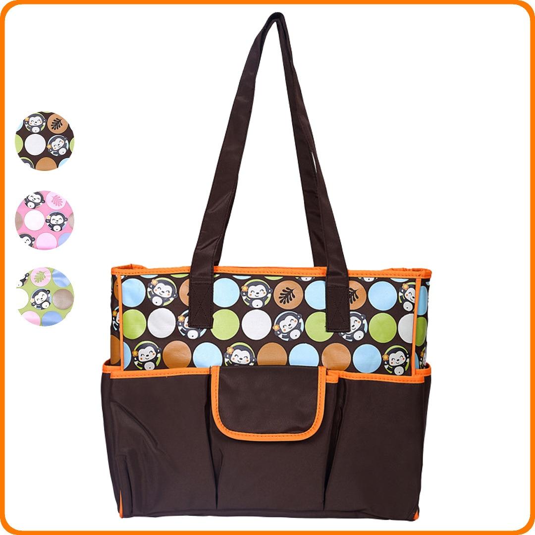 New Style Cute Cartoon Printed Diaper Bag Large Capacity Waterproof Shoulder Bag/ Hand Bag MOTHER'S Bag