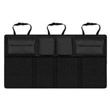 Органайзер для багажника автомобиля с несколькими отделениями, вместительная Регулируемая сумка из ткани Оксфорд для заднего сиденья, универсальное хранение порядка