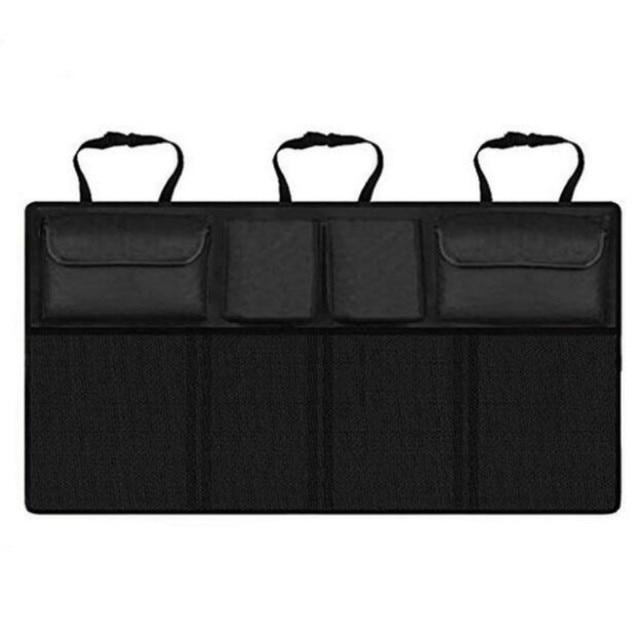 Organizador de maletero de coche con múltiples bolsillos bolsa de almacenamiento para asiento trasero de gran capacidad, asiento trasero ajustable, bolsa Oxford Universal para remolque