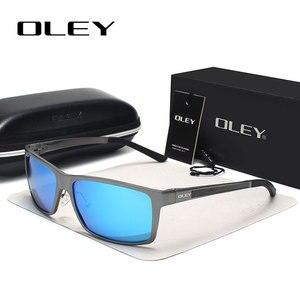 Image 2 - Occhiali da sole quadrati Vintage da uomo OLEY occhiali da sole polarizzati UV400 accessori per occhiali occhiali da sole maschili per uomo/donna Y7160