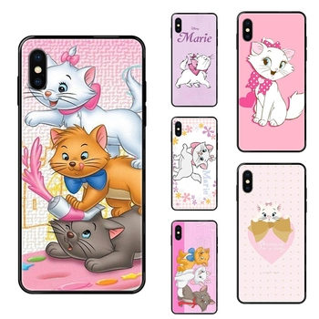 Bright Colo The Aristocats Black Soft TPU Ultra Thin Cartoon Pattern For Galaxy A5 A6 A7 A8 A10 A10S A20 A20S A20E A21S A30 image