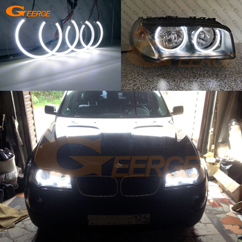 цена на Excellent smd led Angel Eyes Ultra bright illumination Car styling DRL For BMW E83 X3 2007 2008 2009 2010 Halogen headlight