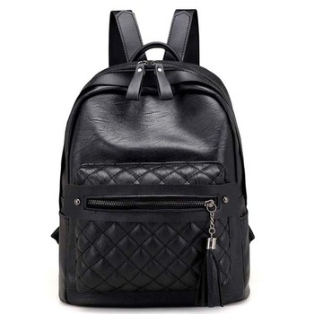 Women Stylish Backpack Tassel PU Leather Backpack Casual Travel Party Daypack Bag Girls Female Teenagers Schoolbag mochila Bags coofit fashion girls pu leather backpacks women female rivet backpack small school bags unique tassel zipper rusksacks daypack