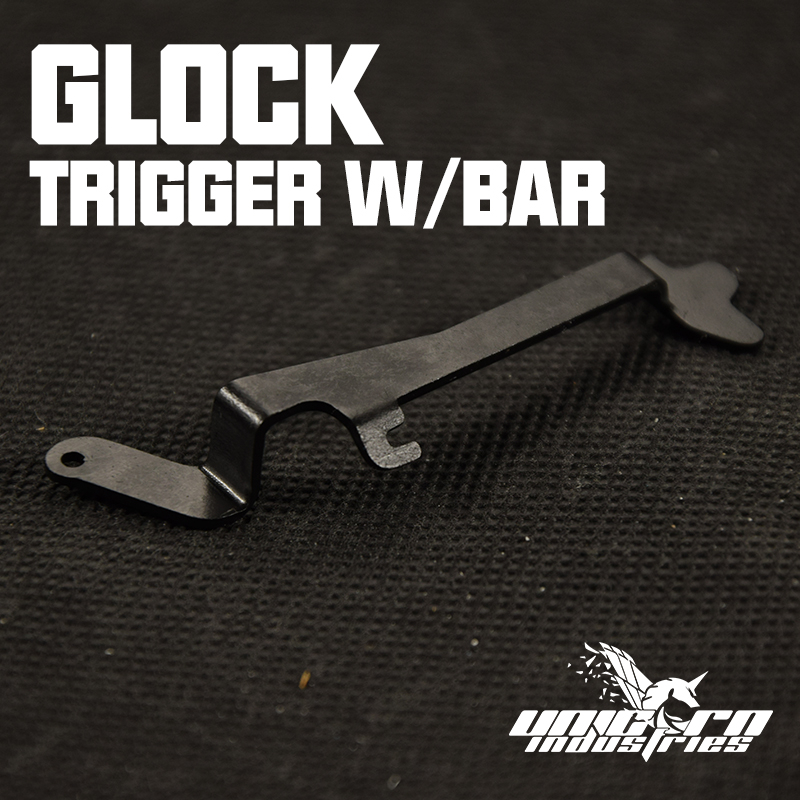 G17 GLOCK TM  Trigger W/BAR Silde Stop Lever Unicorn Industries Metal Stainless Steel Can Fit Kublai P1