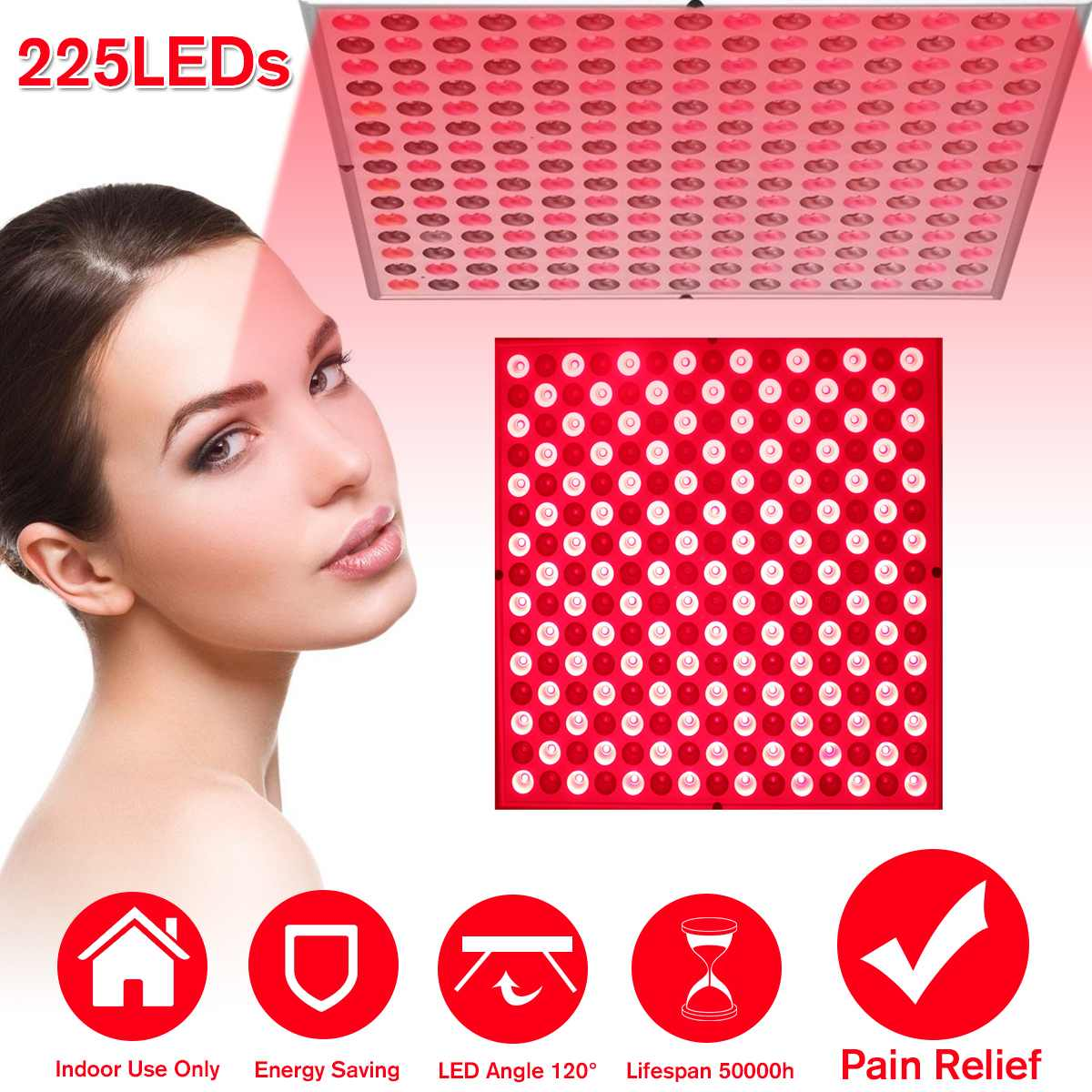 Anti Aging 45W Red Led Light Therapy Deep Red 660nm And Near Infrared 850nm Led Light For Full Body Skin And Pain Relie