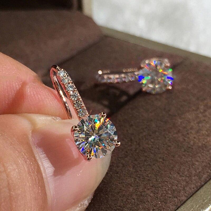 Huitan Dazzling Crystal Zircon Women Drop Earring Wedding Engagement Party Versatile Gorgeous Earring Classic Jewelry Best Gift