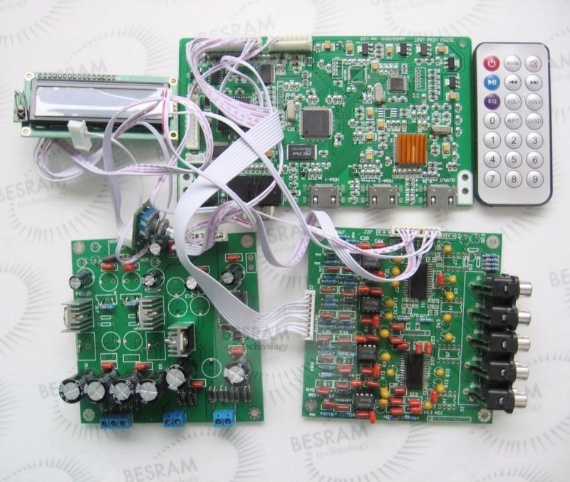 7.1 Channel Decoder Board DTS AC3 Decoder Board Dual Power Version