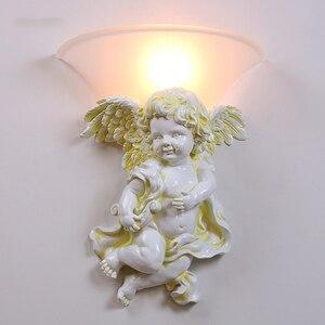 Современный скандинавский минималистичный настенный светильник, Креативный светодиодный светильник в стиле АР-деко, светильник ангела дл...