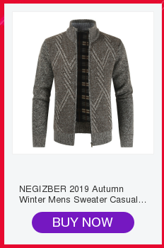 NEGIZBER Men's Sweater Fashion Wild Monochrome Sweater Casual Collar Plus Velvet Sweater Men
