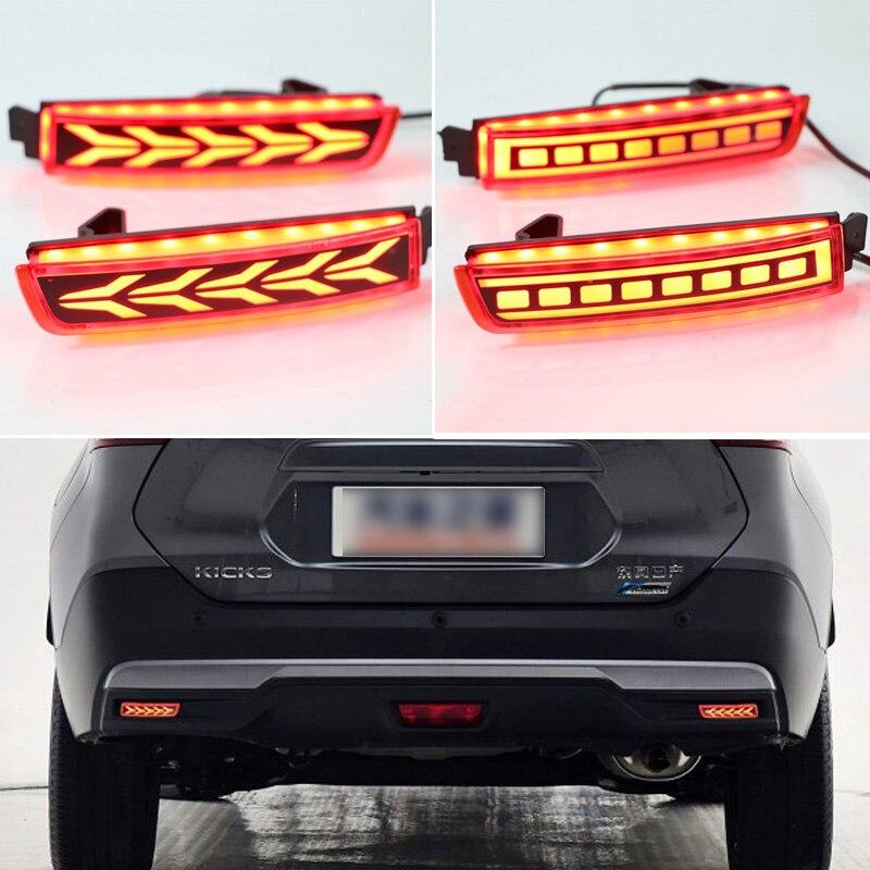 2x LED Rear Bumper Reflector Driving Brake Turn Signal Light For Nissan Murano