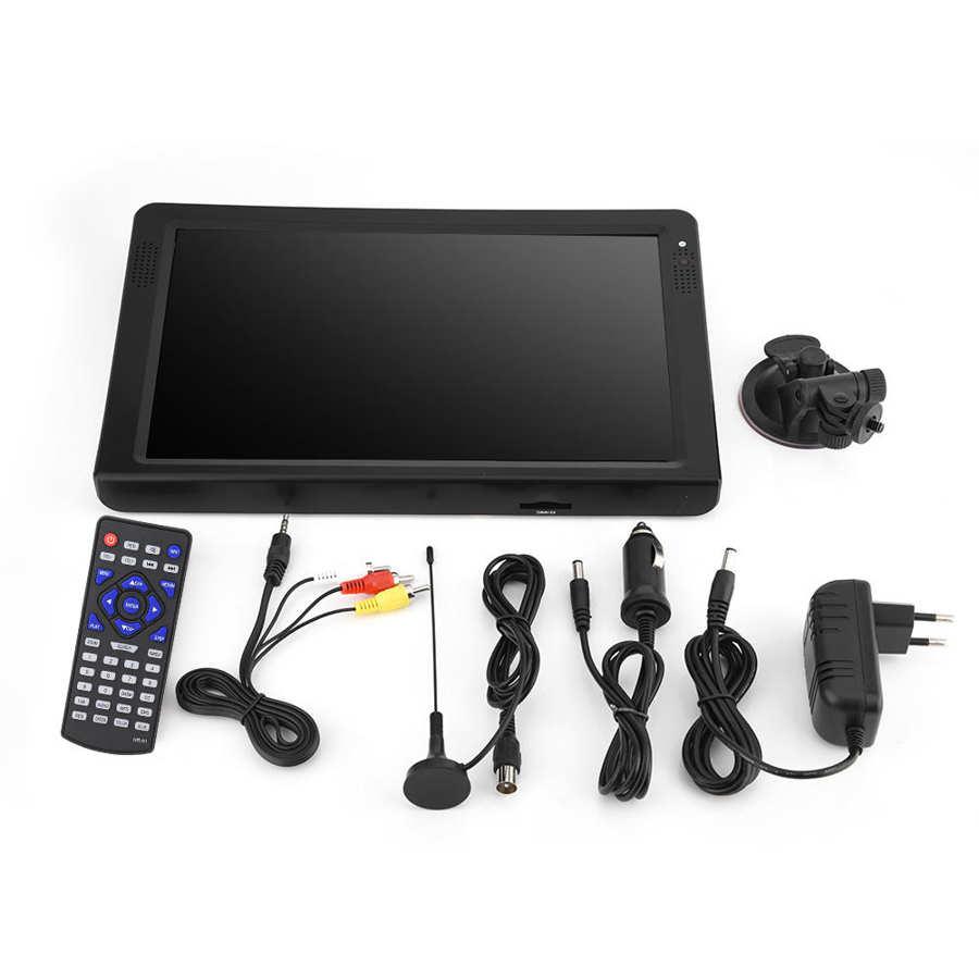 LEADSTAR 12 inch HD Portable TV ISDB-T USB Digital Television Mini Car TV Audio Video Player Support MP4 Monitor EU Plug 7 -