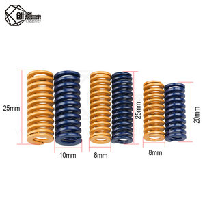10pcs 3D Printer Motherboard Compression Springs Light Load for CR10 10S S4 Ender 3 Heatbed Springs Bottom Connect Leveling(China)