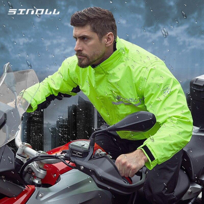 SINOLL À Prova D' Água Da Motocicleta Capa de Chuva Capa de Chuva Terno + Calças de Chuva Poncho capa de Chuva Da Motocicleta Andar de Moto Motorbike Chuva Casaco de Moto