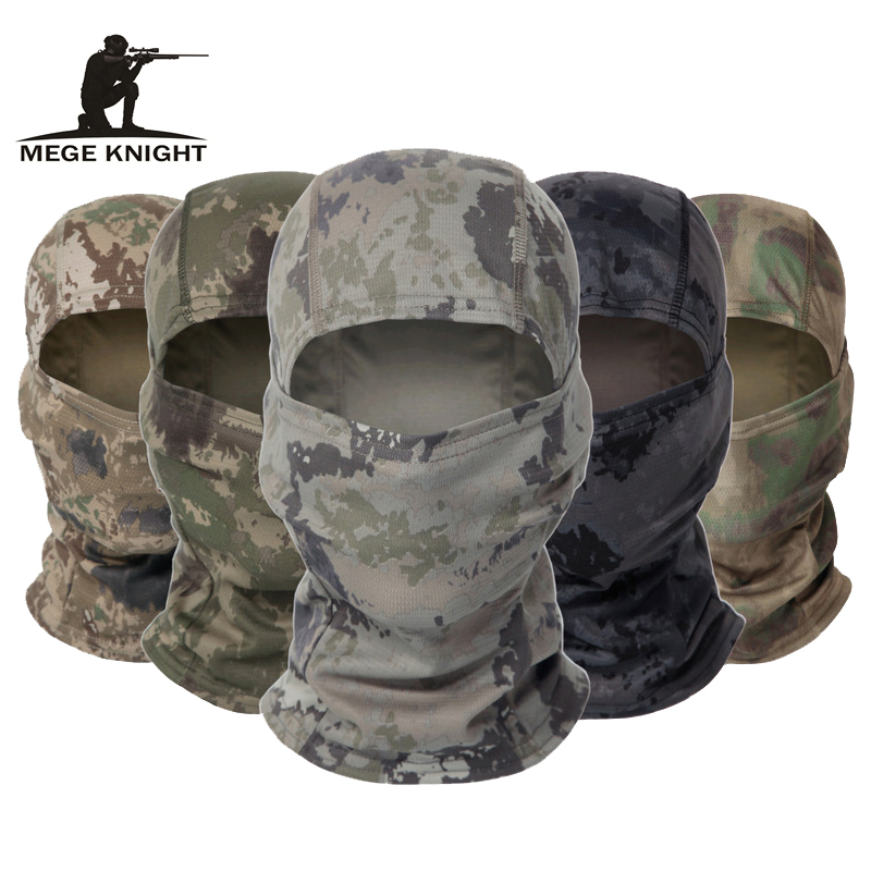 MEGE Camouflage Balaclava Tactical Army Face Mask Cycling War game Face Shield Hunting Helmet Cap Military Moto Skull Mask Men(China)