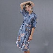 Albornoz primavera y verano pijamas Mujer largo Albornoz simple casual hogar camisón net hot pijamas ropa de dormir nuevo 2020