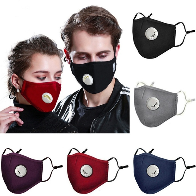 Cotton Anti-dust Mask Flu Face Safety Dust Mask With 2 Filters Easy Breathe Reusable Washable Face Mask Anti For Outdoor Sports