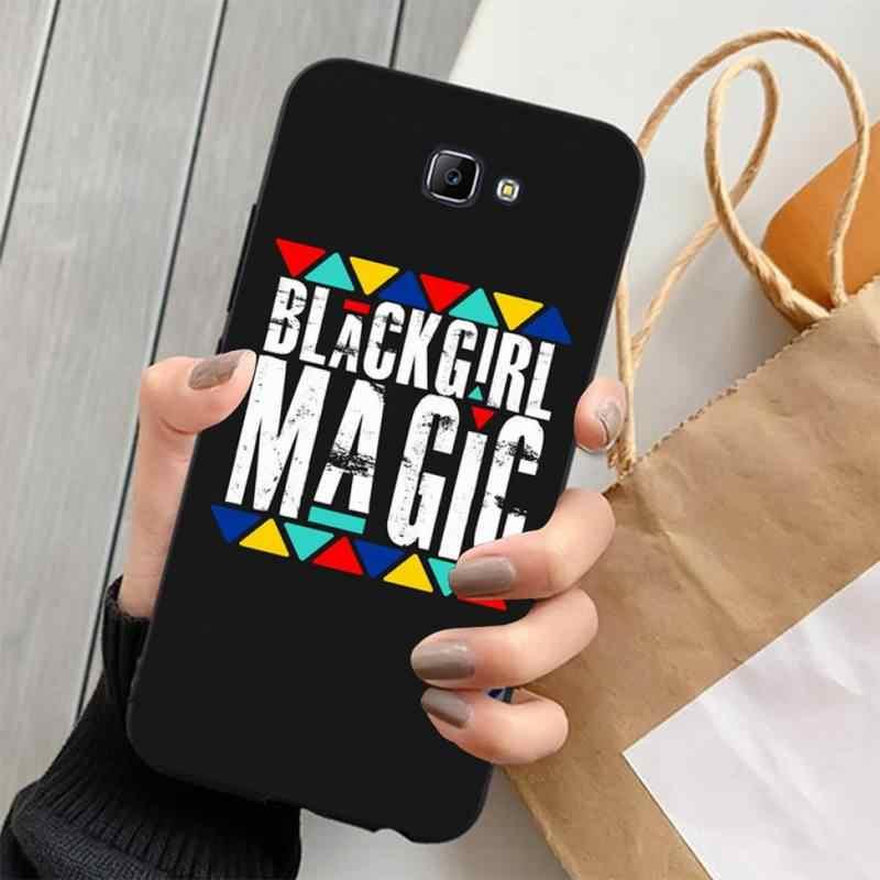 LVTLV 여왕 Afro Melanin Poppin 흑인 소녀 블랙 TPU 소프트 전화 케이스 삼성 J4 플러스 J7PRO J5 J6 J7 프라임 J7 2016 2018 J8