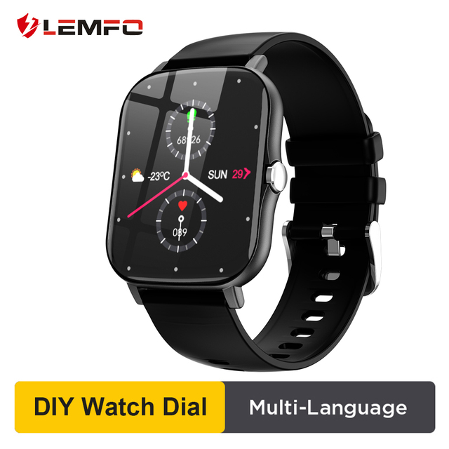LEMFO Smart Watch 1.7 Inch HD GTS 2 Heart Rate Blood Pressure Monitor GTS2 3D Curved Touch Screen Men 2020 for amazfit Android 1