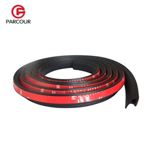 Image 3 - 1 Meter P Type 3M Adhesive Car Door Side Bottom Sealing Strip Sound Insulation And Dustproof Rubber Strip Essential Accessory