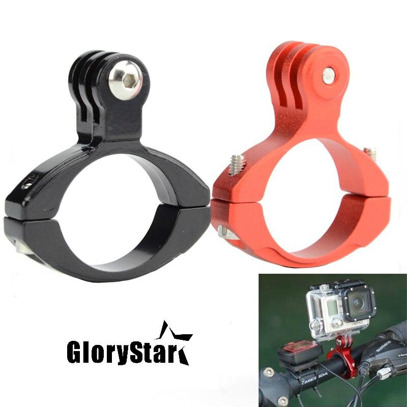 Glorystar CNC Aluminium Bike Motorcycle Handlebar Roll Bar Holder For GoPro Hero 8 7 6 5 4 3 For Xiaomi Yi SJ4000 Action Camera