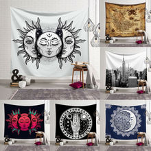 Tapestry Wall Hanging Polyester Mandala Pattern Tapestry Home Decor