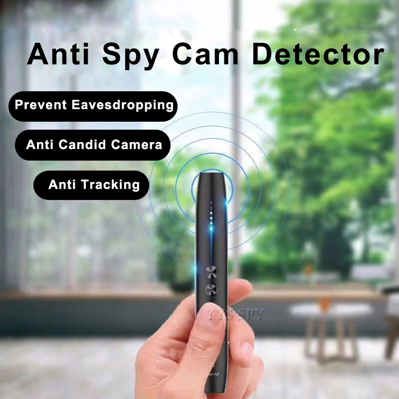 Anti Candid Detector Pen RF Wireless Signal Spy Wiretap Hidden Camera Finder Eavesdropping Audio Gsm Gps Tracker Bug Scanner