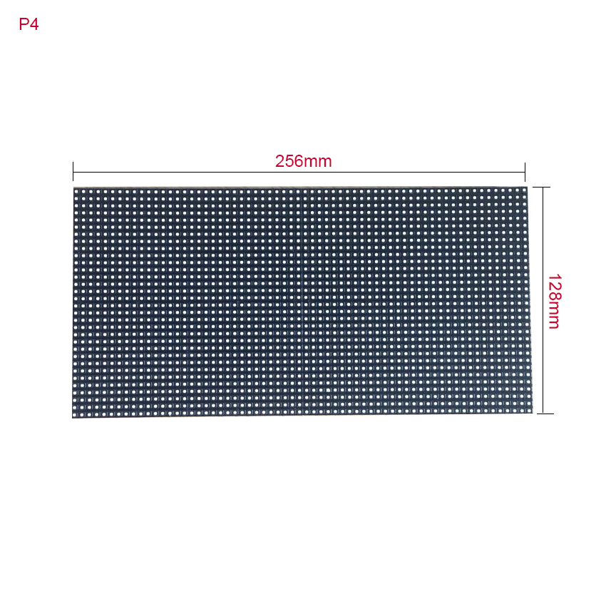 Seamless Splice 64x32dots 256*128mm P4 SMD Outdoor Waterproof Full Color Led Module For Led Video Wall Panel