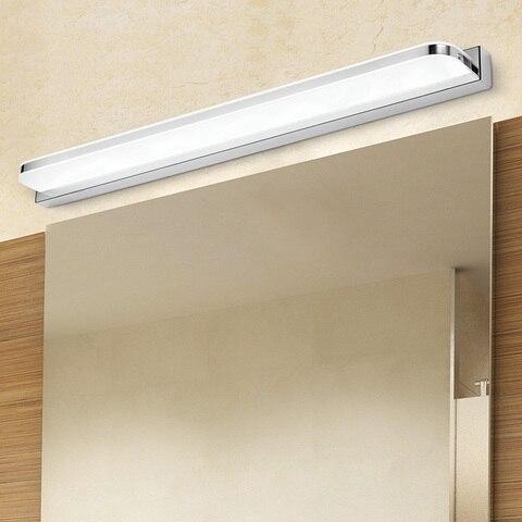 banheiro led espelho de luz acrilico luz da noite