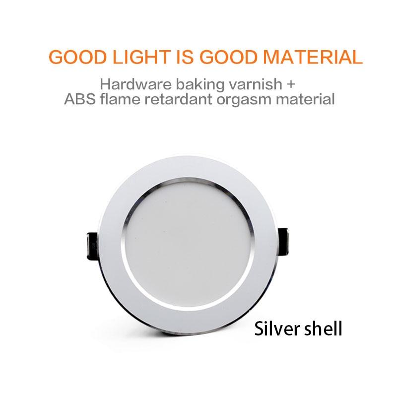 LED Downlight 18W 15W 12W 9W 7W Ceiling Round Recessed Lamp AC220V 230V New type Downlight spot LED Spot Lighting 2
