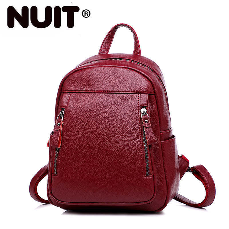 Women Leather Backapcks For Girls Sac A Dos Preppy School Bags Vintage Travel Bagpack Ladies Mochilas Female Back Pack Lady