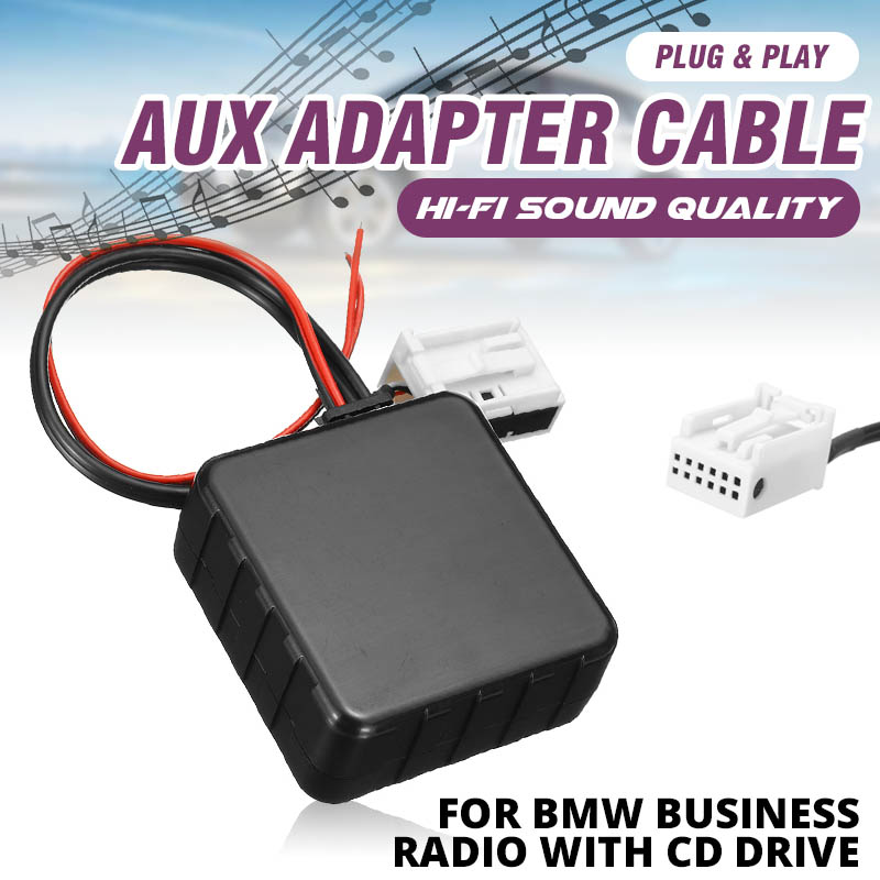 12V <font><b>Car</b></font> <font><b>bluetooth</b></font> <font><b>5.0</b></font> <font><b>bluetooth</b></font> Module Audio AUX Cable <font><b>Adapter</b></font> Upgraded for BMW E60 E63 E65 E66 E81 E82 E87 E70 E90 E91 E92 E93 image