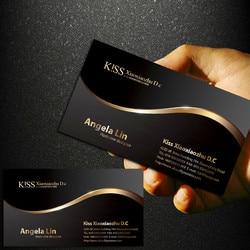 Tarjeta de negocios personal de nivel alto de 0,38mm personalizada, oro local cepillado PVC, tarjeta de negocios personalizada, 200 hojas/juego