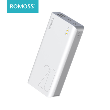 ROMOSS Sense 6S 20000mAh Power Bank USB Type Portable Charger External Battery 5V 2.1A With LED Display For Phones Tablet