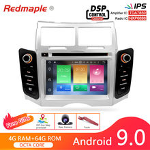 Estéreo dos multimédios da navegação de gps do reprodutor de dvd do carro de ips android 9.0 para a unidade principal audio do bluetooth do rádio do automóvel de toyota yaris 2005-2011(China)