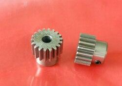 2 uds convexo de engranajes de acero 1M 12 13 14 15 16 17 18 19 dientes recto de 4 5 6 6,35 7 8 9 10 11 12 mm diámetro
